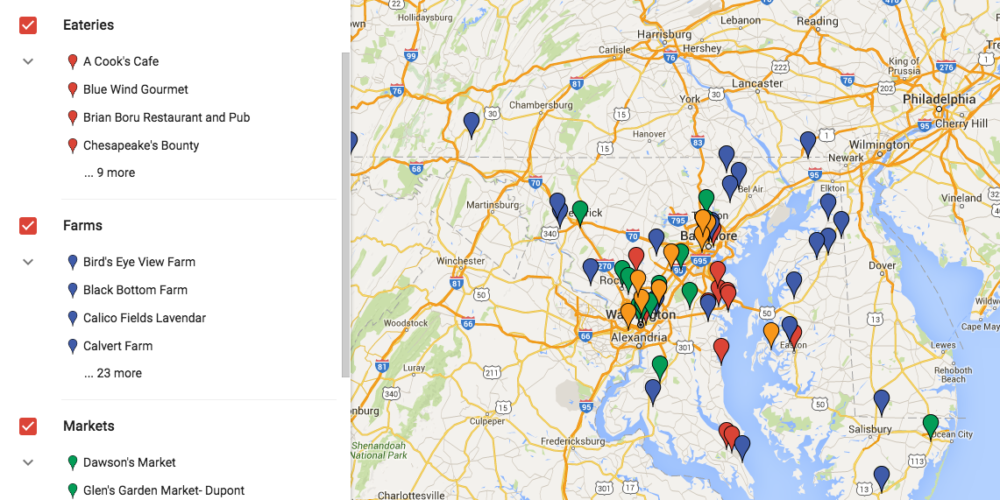The Fair Farms Partner Map: Eateries, Farms, Markets, Businesses and More