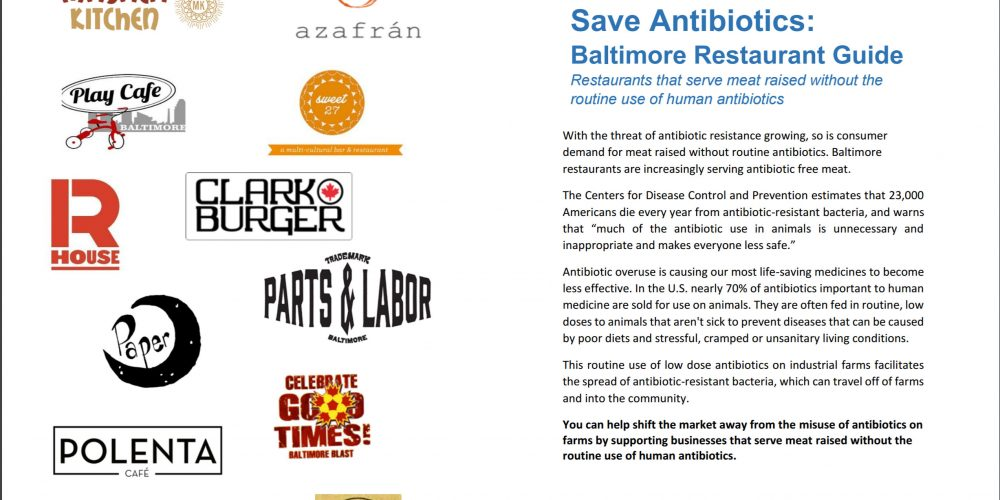 Save Antibiotics: Baltimore Restaurant Guide