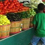 Child at Farmers Market