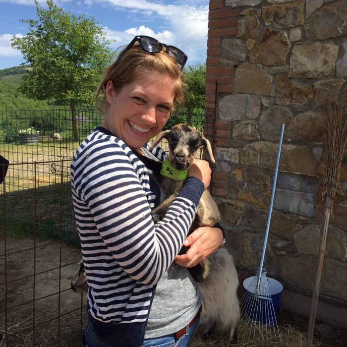 Alicia LaPorte and Goat