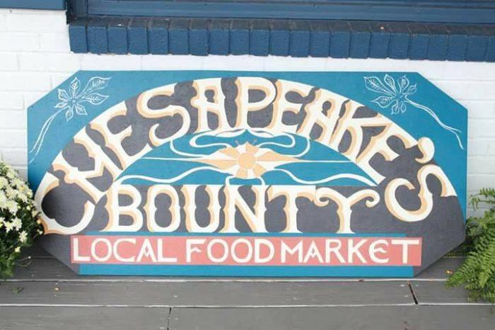 Chesapeake's Bounty Market Sign