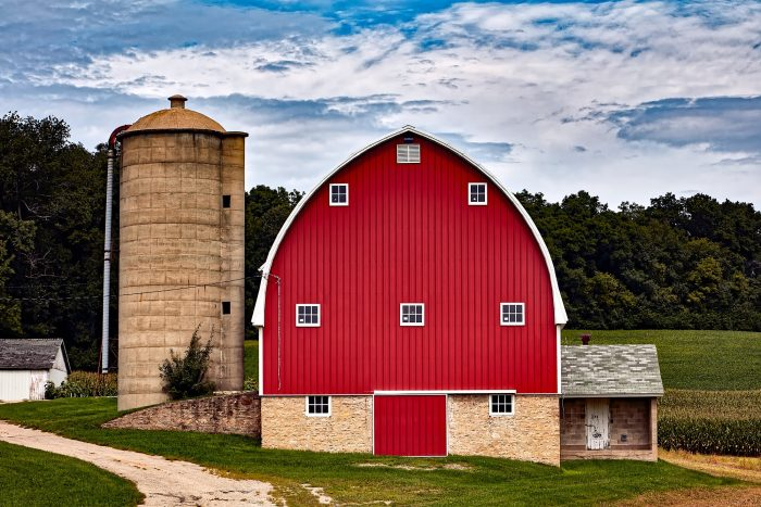 Red Barn on a Farm
