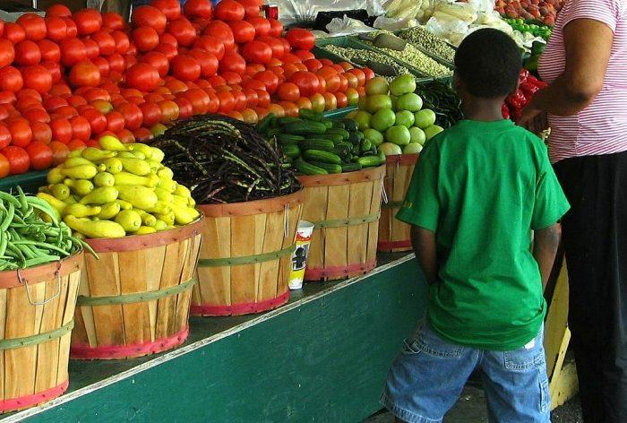 Boy at Farmers Market